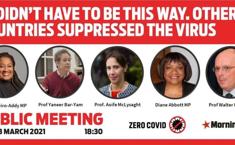 Public meeting on 23 March: It Didn't Have To Be This Way